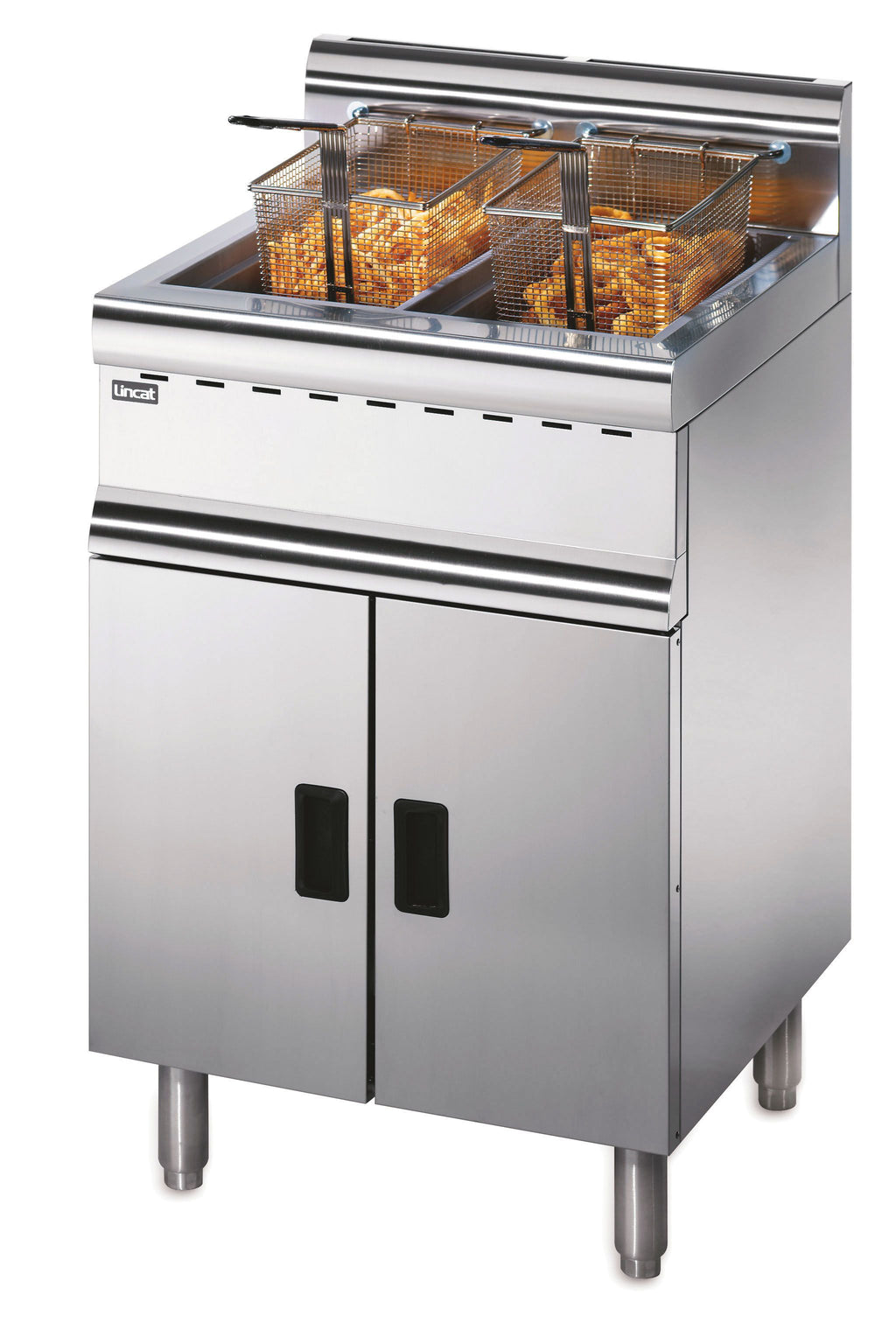 Lincat Silverlink 600 Natural Gas Free-standing Twin Tank Fryer J10/N