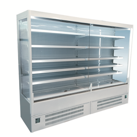 Integral unit Slimline design Fully glazed end panels Electronically controlled Internal illumination Automatic Defrost Temperature display