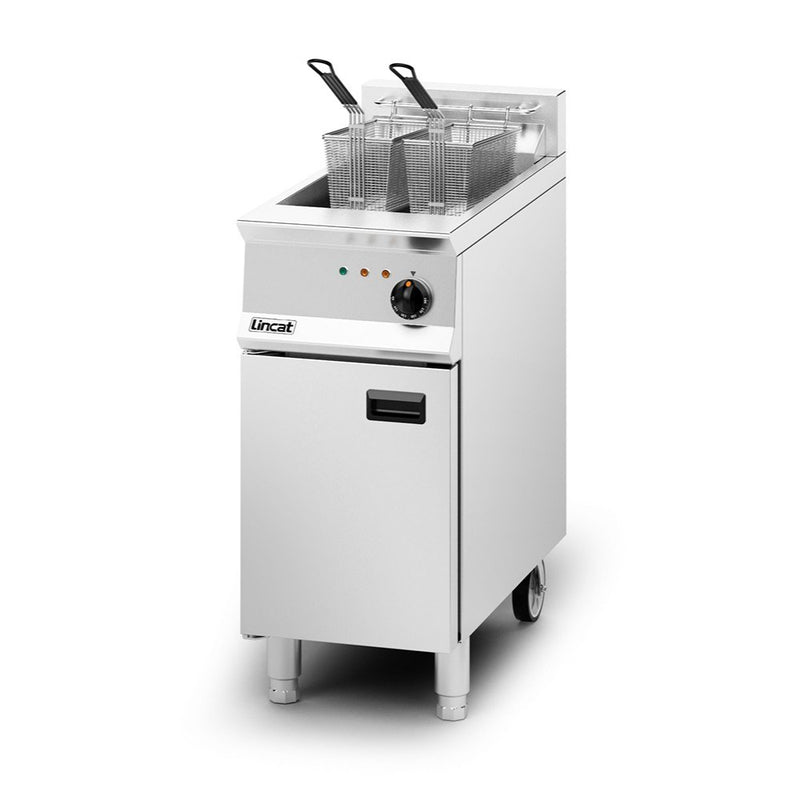Lincat Opus 800 Single Tank Twin Basket Electric Fryer : OE8114