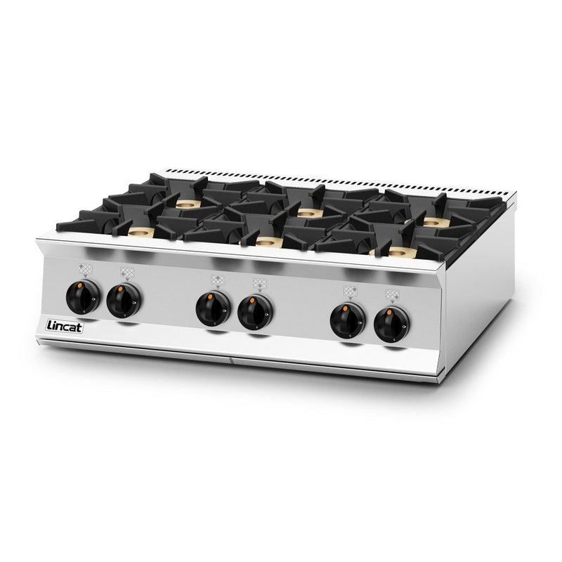 Lincat Opus 800 Gas Six Burner Boiling Top : OG8004/N