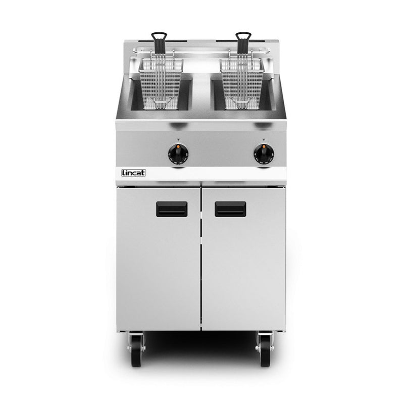 Lincat Opus 800 Double Well Twin Basket Gas Fryer : OG8111/N
