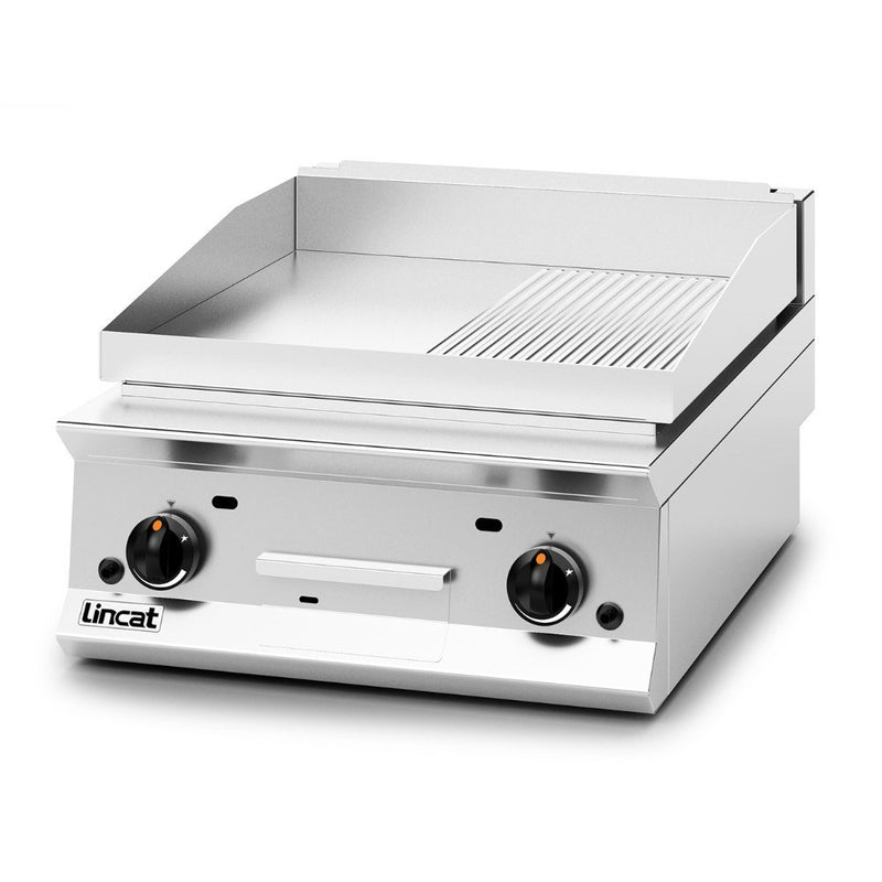 Lincat Opus 800 Steel Half Ribbed Griddle 600mm : OG8201/R/N