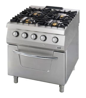 Ozti Four Burner Gas Range With Oven OSGOF 8090