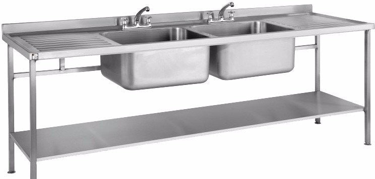 Parry Double Stainless Steel Sink with two Drainers