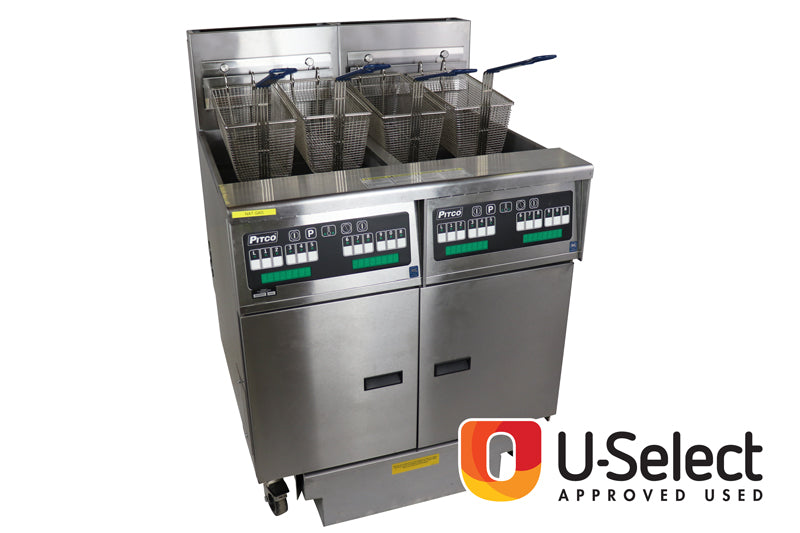 Pitco Twin Well Four Basket Gas Fryer SGH50: 44488