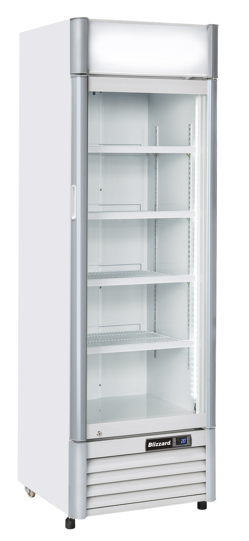 Blizzard 386 Litre One Door Upright Drink Merchandiser QR350AL