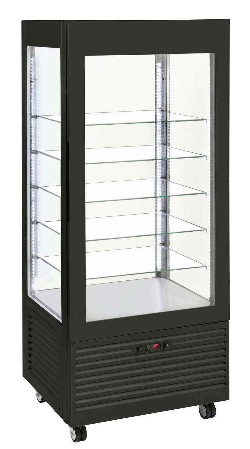 Roller Grill Fixed Glass Shelf Refrigerated Display RD800-F Black