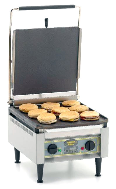 Roller Grill Single Contact Grill with Flat Base And Ribbed Top : PANINI XLE L