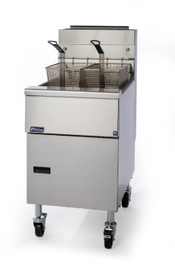 Pitco Economy Single Tank Twin Basket Gas Fryer SG18