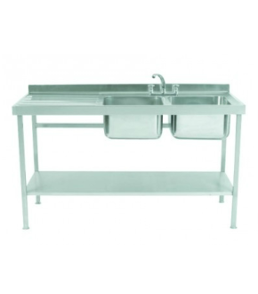 Parry Double Stainless Steel Sink with One Drainer