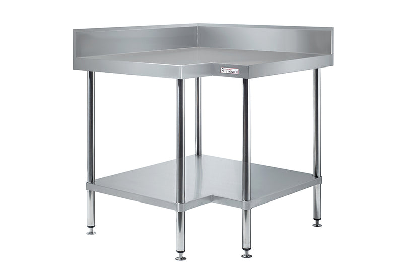 Simply Stainless Corner Wall Table 900mm : SS040900