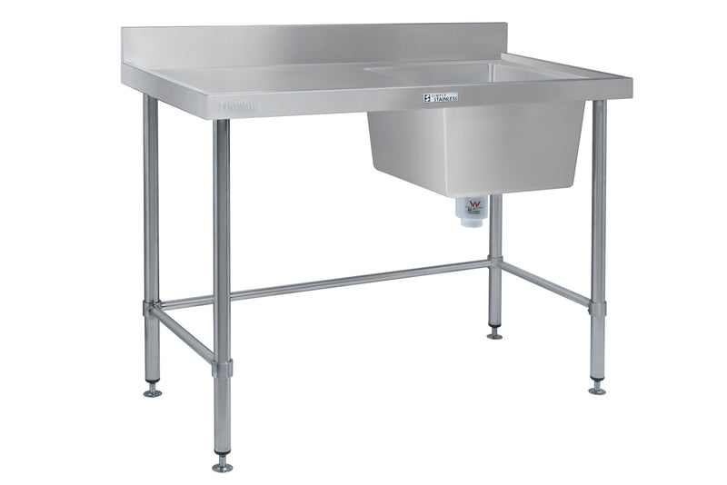 Simply Stainless Right Hand Sink Bench : SS051200R