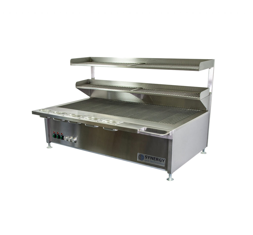 Synergy Trilogy Three Burner Grill with with Garnish Rail and Slow Cook Shelf: ST1300