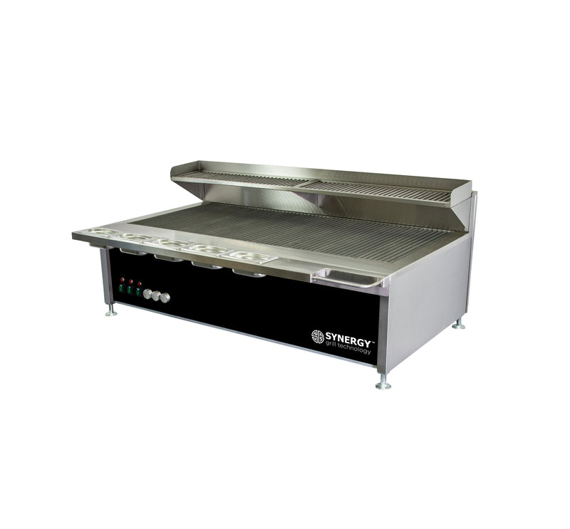 Synergy Trilogy Three Burner Grill with Garnish Rail and Slow Cook Shelf in Black : ST1300BLK