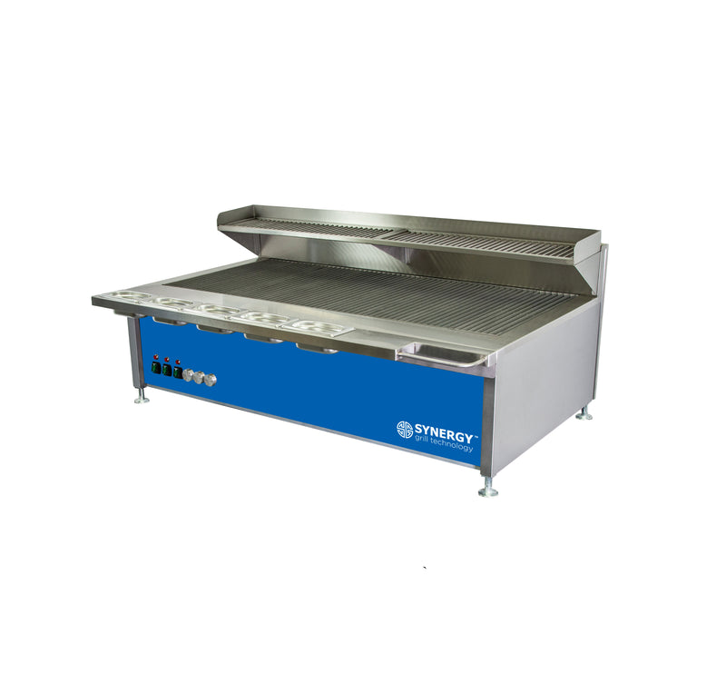Synergy Trilogy Three Burner Grill with Garnish Rail and Slow Cook Shelf in Blue : ST1300B