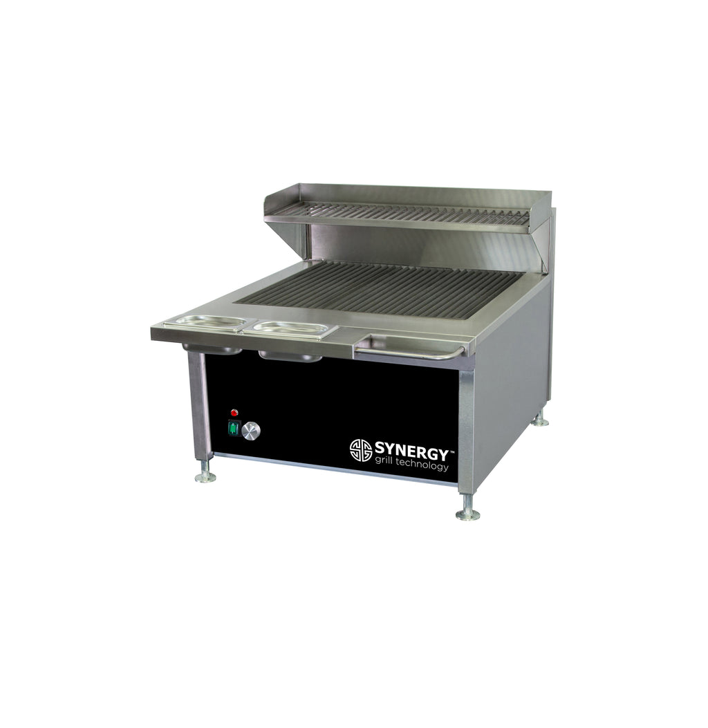 Synergy Trilogy Grill with Garnish Rail and Slow Cook Shelf in Black : ST630BLK