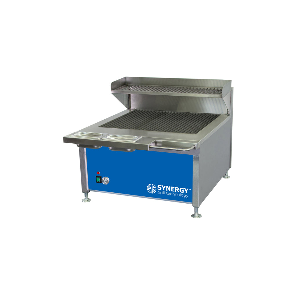 Synergy Trilogy Grill with Garnish Rail and Slow Cook Shelf in Blue : ST630B