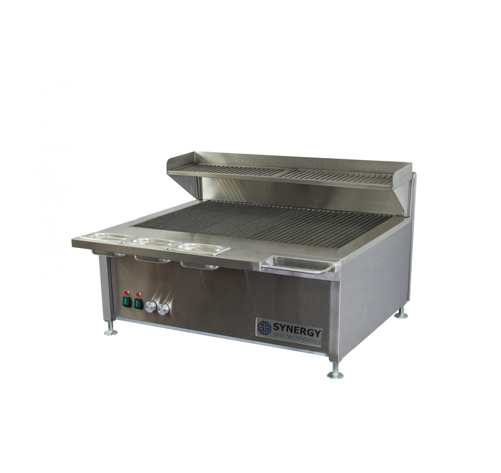 Synergy Trilogy Two Burner Grill with Garnish Rail and Slow Cook Shelf: ST900