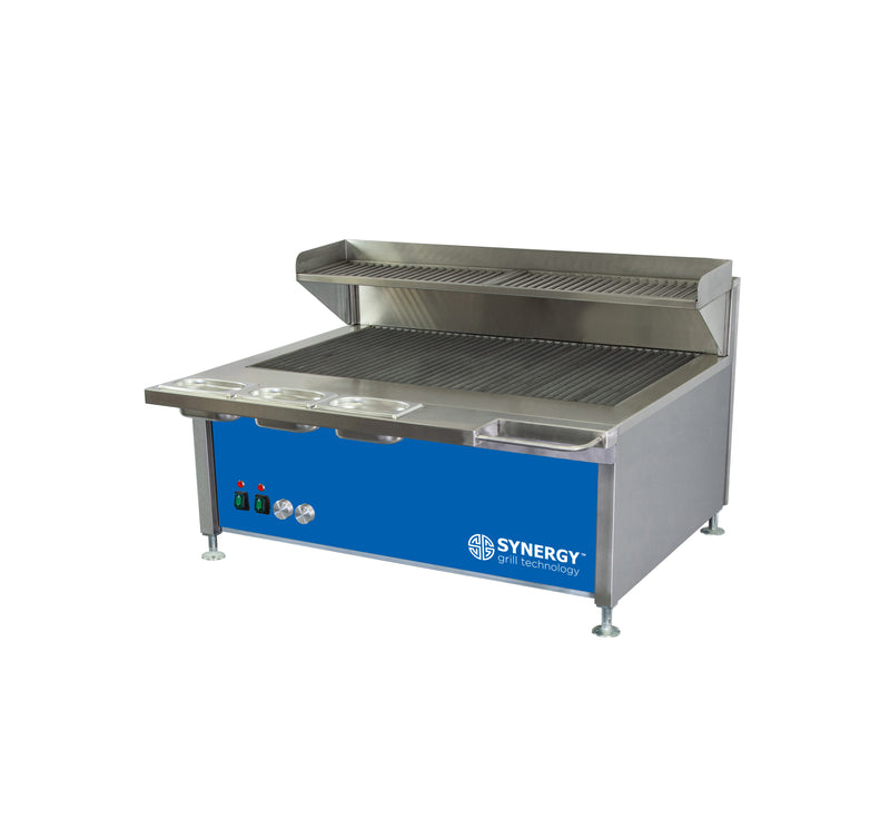 Synergy Trilogy Two Burner Grill with Garnish Rail and Slow Cook Shelf in Blue : ST900B