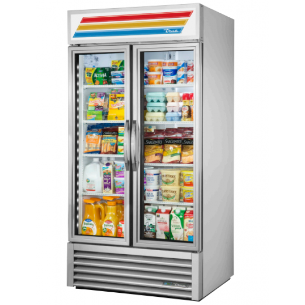 True 365Litre Two Glass Door Merchandiser Fridge TVM-36SL-HC