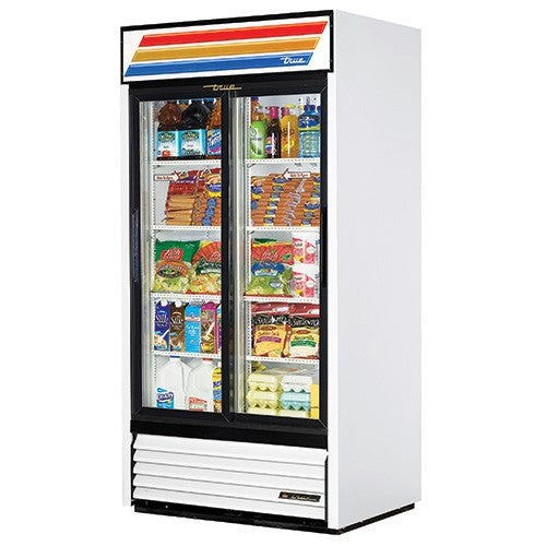 True 890Litre Two Glass Door Merchandiser Fridge GDM-33-HC-LD