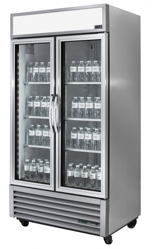True 900Litre Two Glass Door Merchandiser Fridge GDM-35-HC-TSL01