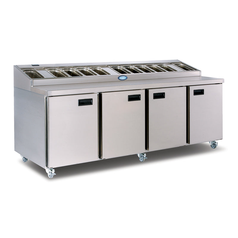 Foster Refrigerated Four Door Prep Counter - FPS4HR