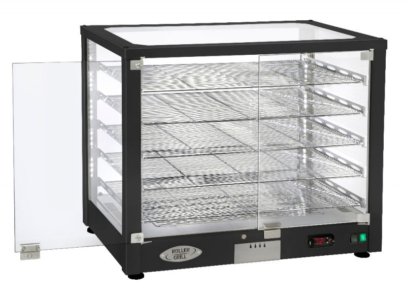 Roller Grill Heated Display 3 x 1/1 GN Black : WD780 D