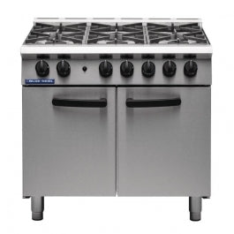 Blue Seal SR Series G750-6 - 6 Burner Range Static Oven