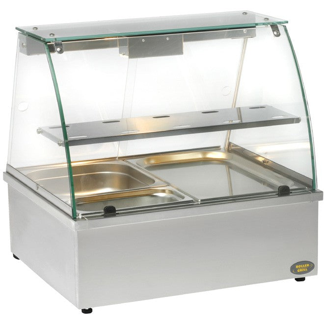 Roller Grill Heated Display with Integral Bain Marie BMV 2