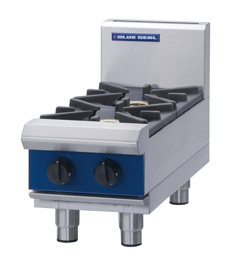 Blue Seal Countertop Heavy Duty Gas Two Burner Boiling Top : G512D-B
