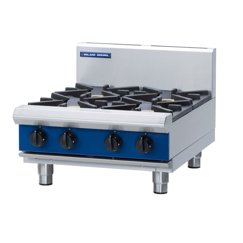 Blue Seal Countertop Heavy Duty Gas Four Burner Boiling Top : G514D-B