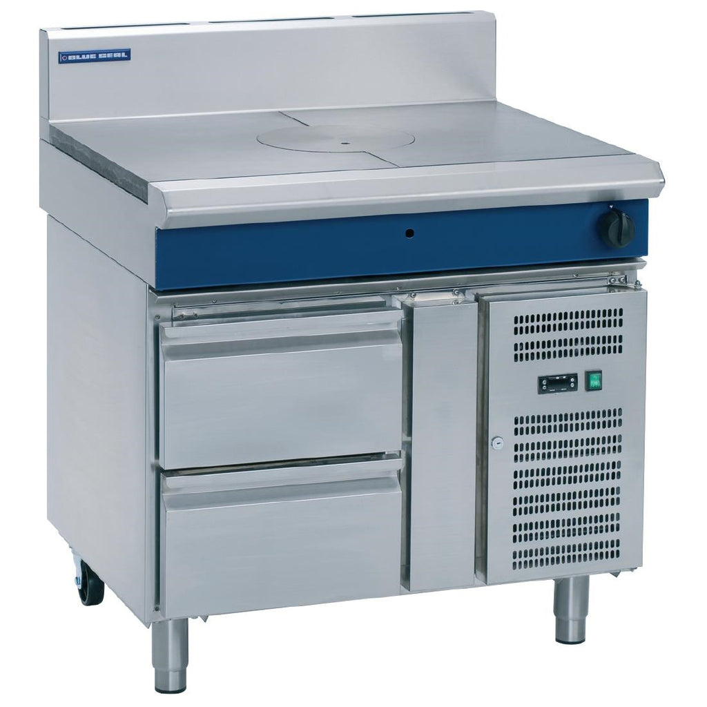 Blue Seal 900mm Target Top with Refrigerated Base : G57-RB