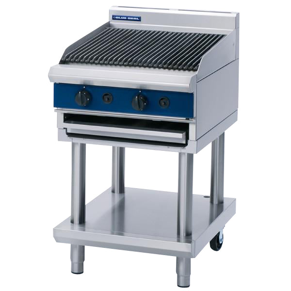 Blue Seal 600mm Gas Chargrill on Fixed Stand : G594-LS
