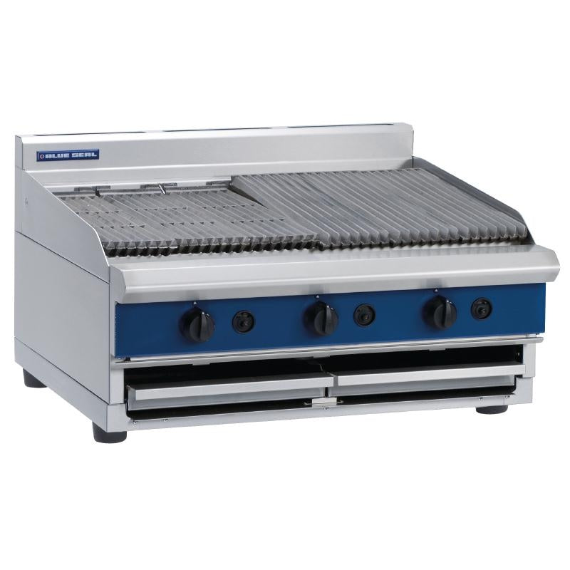 Blue Seal 900mm Countertop Gas Chargrill : G596-B