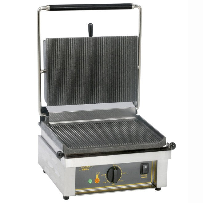 Roller Grill Single Contact Grill Ribbed Base & Ribbed Top : PANINI R