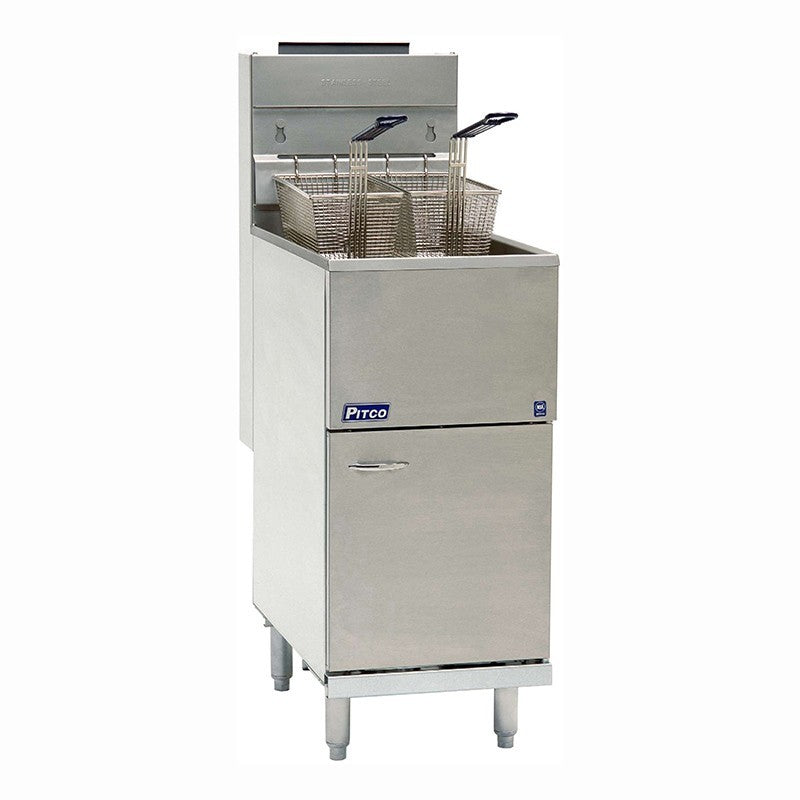 Pitco Economy Single Tank Twin Basket Gas Fryer 35C
