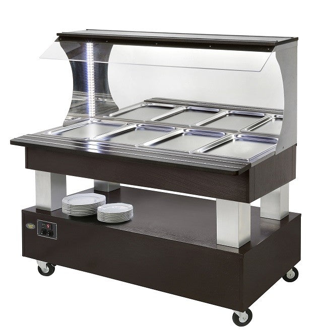 Roller Grill Heated Buffet Unit 4 x 1/1 GN : SBM40C
