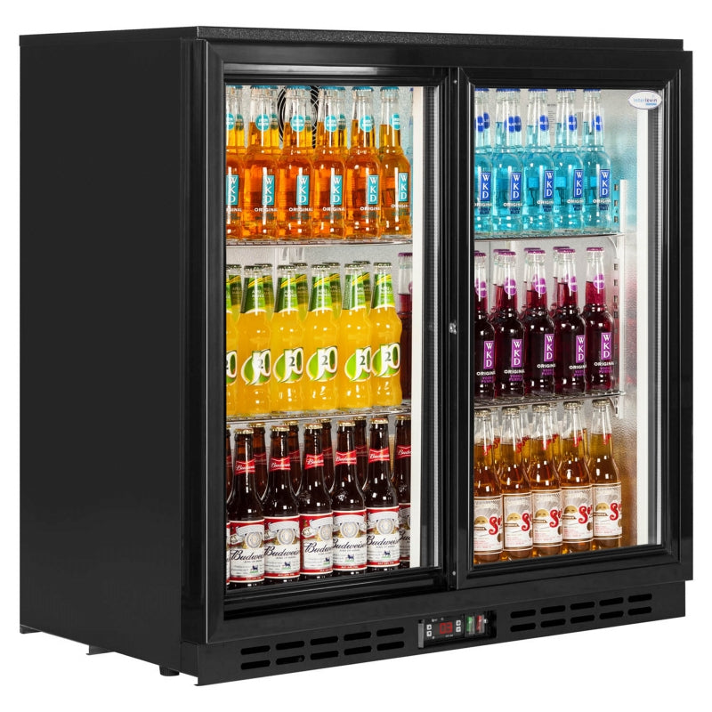 Interlevin Back Bar Bottle Cooler With Sliding Doors : PD20S