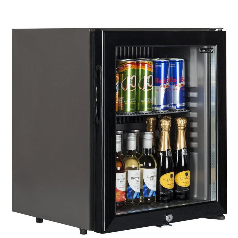 Interlevin Glass Door Bottle Cooler in Black : TM52G