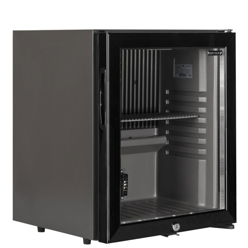 Interlevin Glass Door Bottle Cooler in Black : TM32G