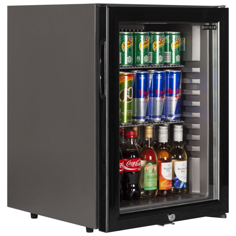 Interlevin Glass Door Bottle Cooler in Black : TM42G