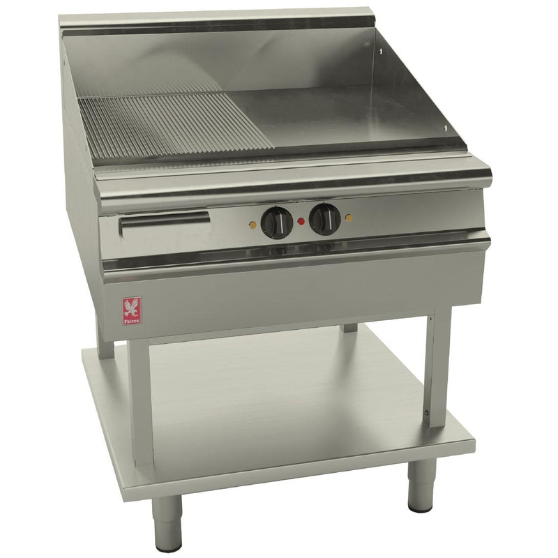 Falcon Ribbed Electric Griddle on Fixed Stand : E3481R