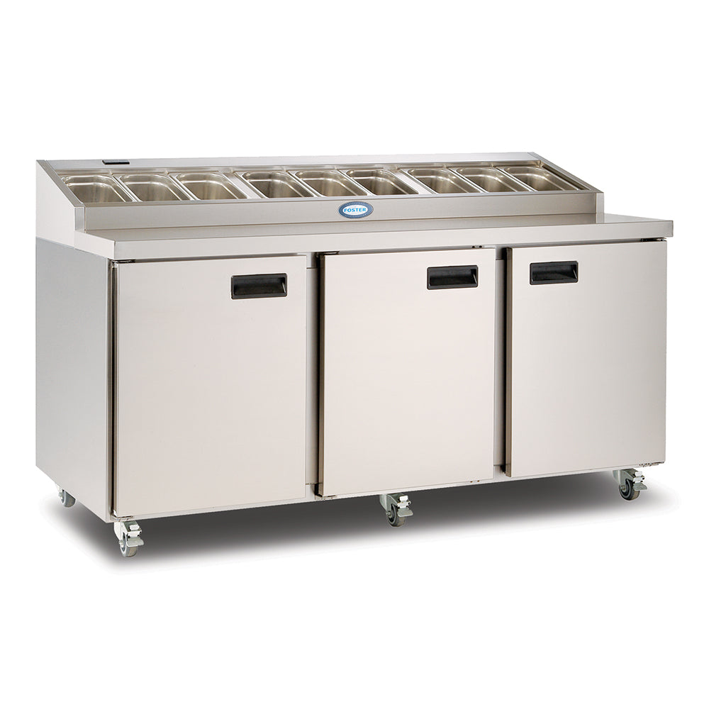 Foster Refrigerated Three Door Prep Counter - FPS3HR