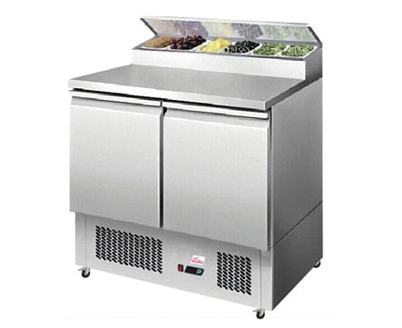 Valera 1/1 GN Two Door Salad Prep Counter 240 litre : VSALPT2