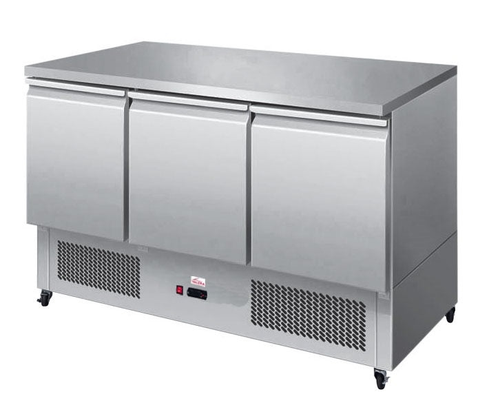 Valera 1/1 GN Three Door Prep Counter  : VSALSS3