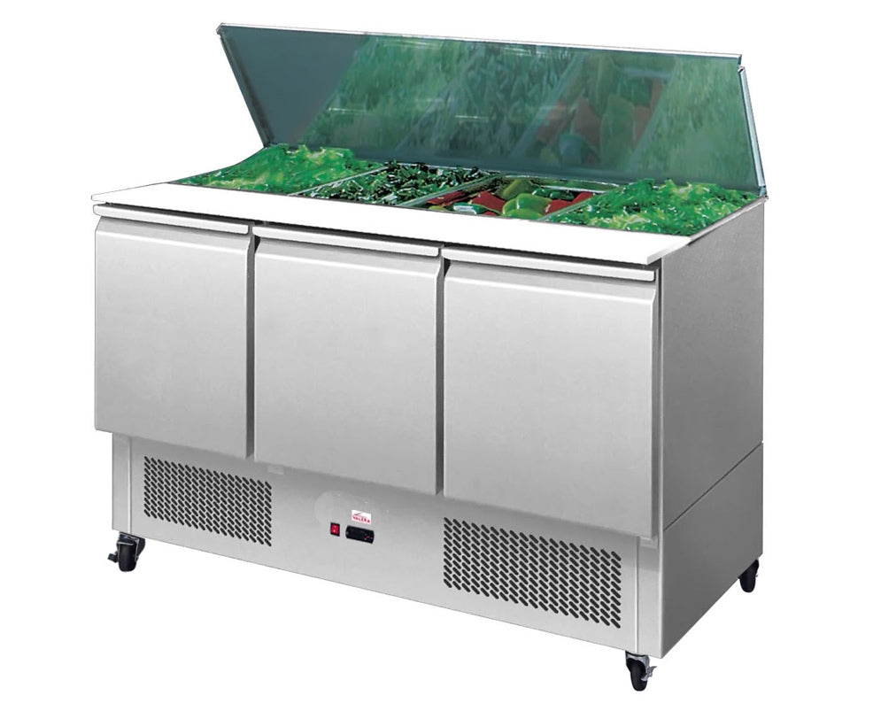 Valera 1/1 GN Compact Three Door Prep Counter  : VSALST3