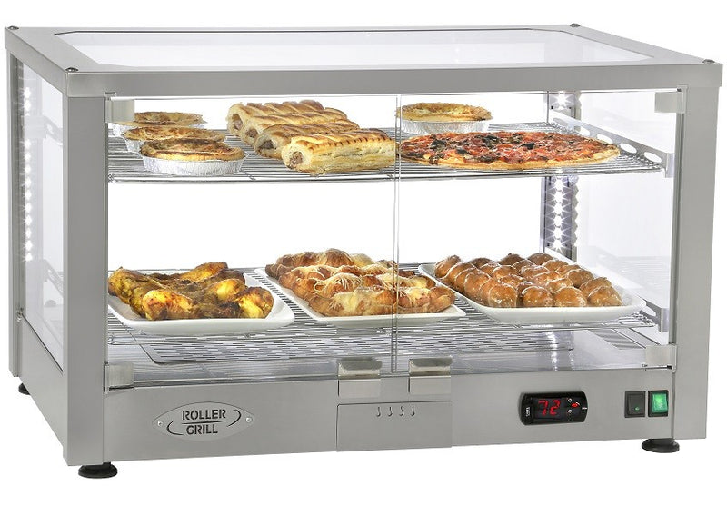 Roller Grill Illuminated Counter Top Heated Display Cabinet (Silver) WD780S