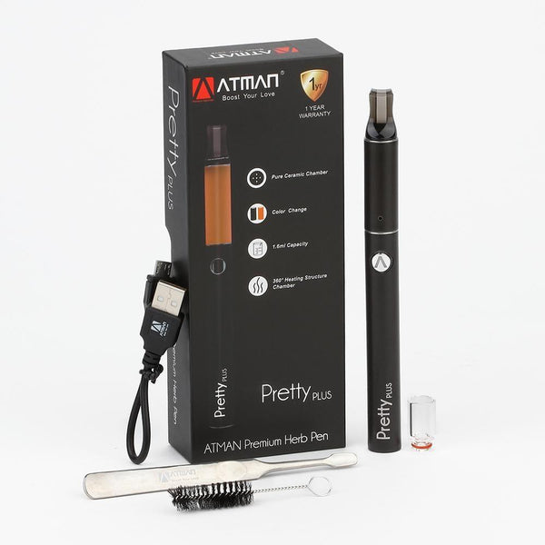 ATMAN Pretty Plus Dry Herb Vaporizer - Downtown Vapoury