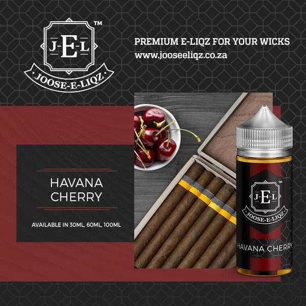 Joose-E-Liqz havana Nightz Cherry 30ml - Downtown Vapoury